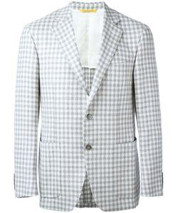 Canali | Checked Blazer 50 Silk/Linen/Flax/Wool/Cupro