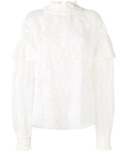 Magda Butrym | Vichy Embroidered Top