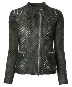 Giorgio Brato | Perforated Detail Jacket 46 Leather