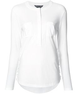Thomas Wylde | Dawn Ruffled Trim Shirt Xs Cotton