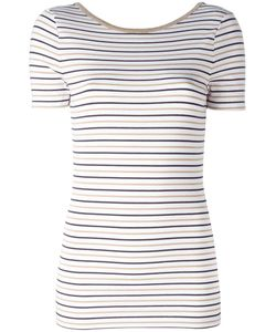 Michael Michael Kors | Striped T-Shirt Medium Viscose/Polyester/Spandex/Elastane/Metal