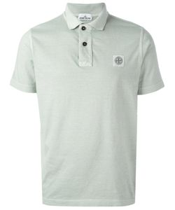 Stone Island | Logo Patch Polo Shirt Large Cotton