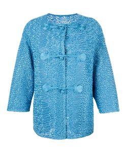 Ermanno Scervino | Collarless Textu Jacket 42 Polyamide/Polyester