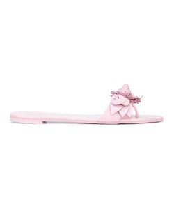 Sophia Webster | Flower Applique Sandals 38.5 Calf Leather/Leather/Rubber