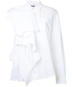 MSGM | Асимметричная Рубашка С Рюшами