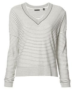 ATM Anthony Thomas Melillo | Striped V-Neck Jumper