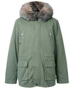 YVES SALOMON HOMME | Padded Hooded Jacket 46 Cotton/Fox