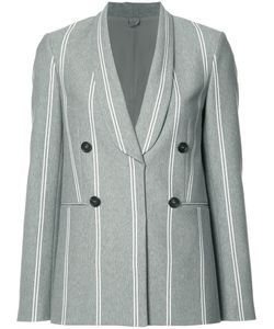 Brunello Cucinelli | Shawl Lapel Double-Breasted Blazer 38 Cupro/Acetate/Silk/Polyester