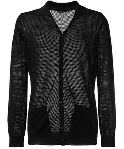 Roberto Collina   Perforated Detail Cardigan Size 52