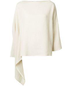 DUSAN | Asymmetric Poncho Top Linen/Flax