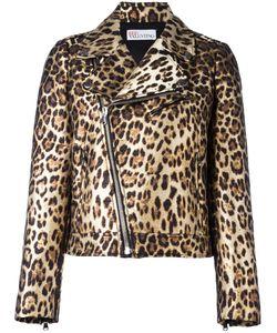 Red Valentino | Байкерская Куртка С Леопардовым Узором