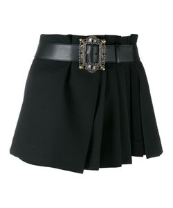 Alexander McQueen | Pleated Wrap Mini Skirt Calf