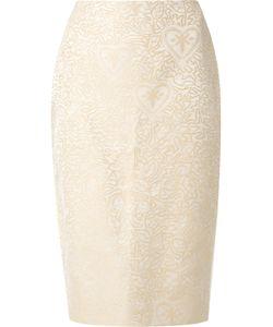 MARTHA MEDEIROS | Jacquard Judith Pencil Skirt Size 38