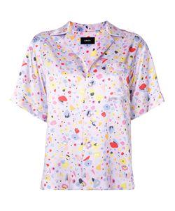 G.V.G.V.   Satin Shortsleeved Shirt 34 Rayon