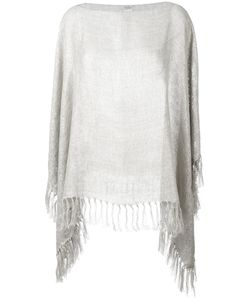 Brunello Cucinelli | Fringed Poncho Polyester/Linen/Flax/Polyamide