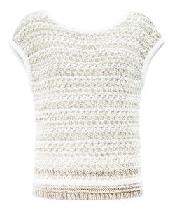 Maison Ullens | Knitted Top Small Cotton/Linen/Flax/Polyamide/Viscose