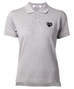 Comme des Gar ons Play | Comme Des Garçons Play Embroidered Heart Polo Shirt
