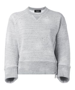 Dsquared2 | Cropped Side Zip Sweatshirt Small Cotton