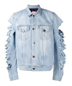 PALM ANGELS | Cut-Out Sleeves Denim Jacket Large Cotton/Polyester