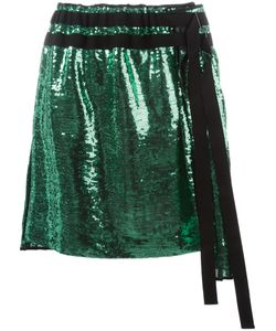 No21 | Pleated Sequin Skirt 42 Polyester/Silk