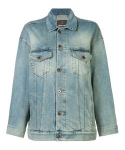 Roberto Cavalli | Star Denim Jacket 38 Cotton/Spandex/Elastane