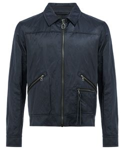 Lanvin | Creased Effect Bomber Jacket 50 Cotton/Calf Leather/Metal