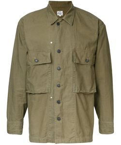 Gold | Military Shirt Jacket Small Cotton