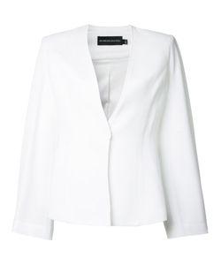 Brandon Maxwell | Pleated Sleeve Blazer 10 Viscose