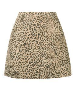 Joie | Leopard Print Skirt 2 Goat Skin/Cotton/Acetate