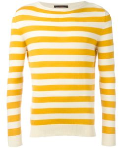 The GIGI | Striped Knitted Sweater Large Cotton