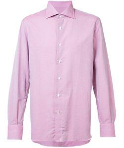 Isaia   Plain Shirt 15 1/2 Cotton/Linen/Flax