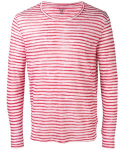 MAJESTIC FILATURES   Striped Long Sleeve T-Shirt Size Large