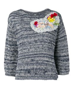 Antonio Marras | Flower Embellished Jumper Small Cotton