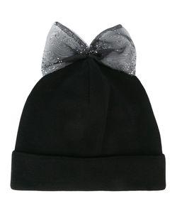 FEDERICA MORETTI | Bow Detail Beanie Polyester/Cotton