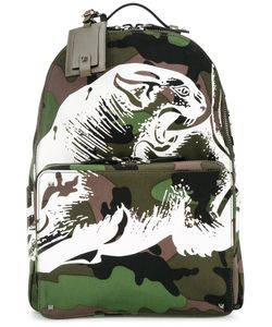 Valentino | Camouflage Printed Backpack Cotton/Leather