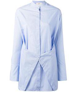 Ports | 1961 Band Collar Shirt Womens Size 36 Cotton
