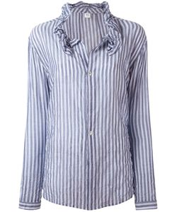 Y'S | Striped Frill Collar Blouse