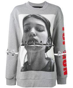Filles A Papa | Printed Eyelet Sweatshirt