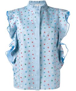 Manoush   Denim Volant Top 40 Cotton/Polyester