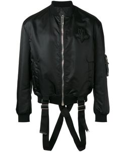 Les Hommes | Strap Detail Bomber Jacket 52 Polyester/Polyamide/Spandex/Elastane/Nylon