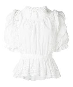 Faith Connexion | Lace Detail Ruffled Blouse