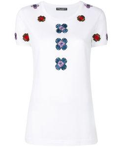 Dolce & Gabbana | Футболка С Цветочной Вышивкой