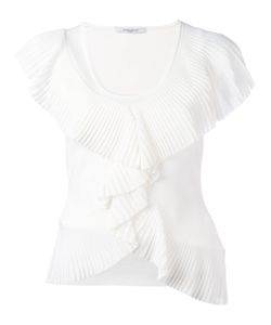 Givenchy | Frilled T-Shirt Medium Viscose/Polyamide/Spandex/Elastane