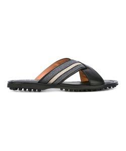 Carshoe | Car Shoe Cross-Strap Sandals 6.5 Calf Leather/Leather/Cotton/Rubber
