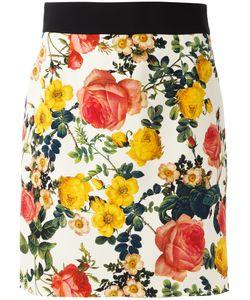 Fausto Puglisi | Print Mini Skirt 42 Silk/Viscose/Spandex/Elastane/Silk