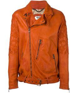 Pihakapi | Embroide Biker Jacket Medium Lamb Skin/Viscose