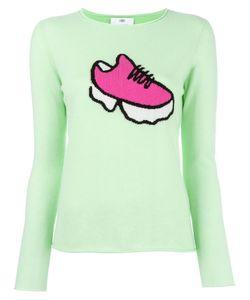 Allude | Sneaker Intarsia Jumper Large Cashmere