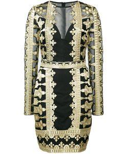 Nicole Miller | Кружевное Платье С Вышивкой