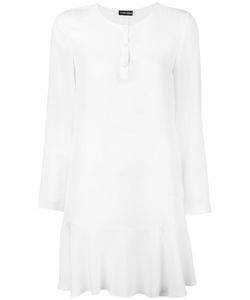 Emporio Armani | Henley Collar Dress 44 Silk/Polyester