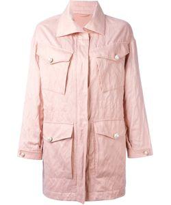 Ermanno Scervino | -Pockets Zipped Coat 36 Cotton/Cupro Fibre/Silk